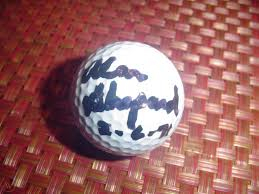 Alan Shepard Astronaut Moon Walker Auograhed Signed Autographed Golf Ball