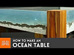how to make an ocean table concrete