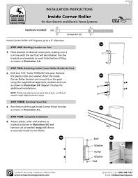 Inside Corner Roller Installation Instructions Centaur