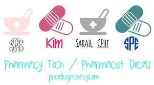 Pharmacy Tech Decal Pharmacist Decal By Pricedesignco On Etsy Pharmacy Tech Pharmacy Pharmacist