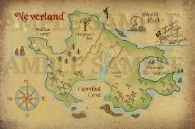Peter Pan Map Of Neverland Lost Boys And Captain By Thegeekfind Peter Pan Bedroom Peter Pan Nursery Neverland Map
