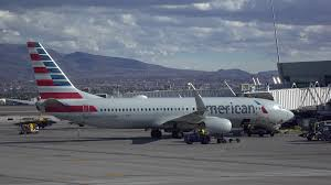 american airlines plane sitting at gate