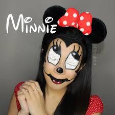 scary minnie mouse diy halloween makeup
