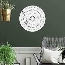 Roommates Perpetual Calendar 16 7 Inch Round Vinyl Dry Erase Wall Decal Bed Bath Beyond