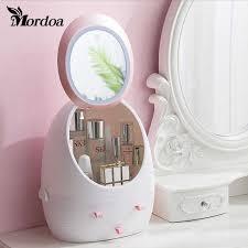 mirror makeup storage box led mirror