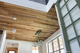 Diy Reclaimed Wood Ceiling So Cheap So Pretty Domestic Imperfection