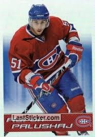 Sticker 381: Aaron Palushaj - Panini NHL Hockey 2011-2012 - laststicker.com