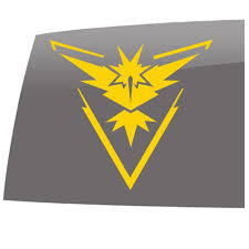 Pokemon Go Inspired Team Instinct Games 5 Year Outdoor Vinyl Sticker Decal 5 Year Outdoor Vinyl Sticker Decal Slomo Swag Apparel Stickers And More