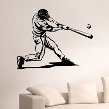 Shop Baseball Player Wall Art Decal Sticker Overstock 10578032