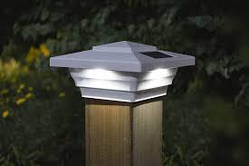 Amazon Com Classy Caps 4x4 Windsor Led Solar Fence Post Cap 3 1 2 Or 4 Post Garden Outdoor