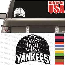 New York Yankees Mlb Baseball Cap Nyc Cool Car Decal Wi