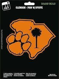 Clemson Tigers Paw University Football College Vinyl Decal Car Window Sticker Ebay