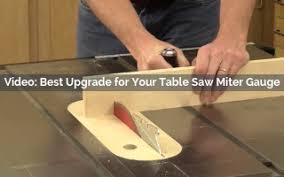 Best Upgrade For Your Table Saw Miter Gauge Rockler