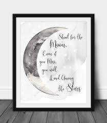 Printable Moon Wall Art Instant Download Shoot For The Etsy