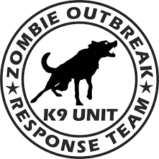 Zombie Outbreak Response Team K9 Unit Vinyl Decal Sticker Label Decals N More