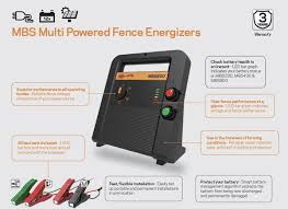 Gallagher Mbs400 Multi Powered Fence Charger Energizer 280 Acres Gallagher Electric Fencing From Valley Farm Supply