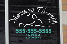 Massage Therapy Sign Decal