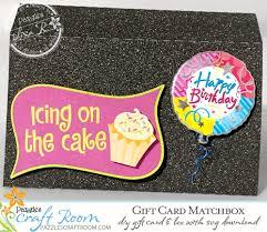 diy gift card matchbox holder with svg