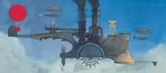 """by Aaron Becker, from his fantastic wordless children's book """"Journey"""" :  ImaginaryTechnology"""