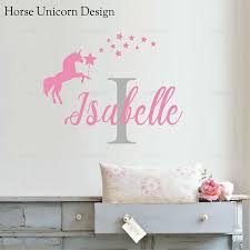 Custom Name Initial Wall Sticker Vinyl Decal Personalised Nursery Girls Baby For Living Room Home Decoration Wall Stickers Aliexpress