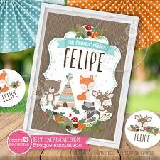Kit Imprimible Personalizado Animales Del Bosque Encantado