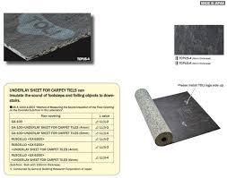 carpet tile underlay ecofloors