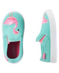 Baby Girl Flamingo Slip-On Shoes | Carter's OshKosh Canada