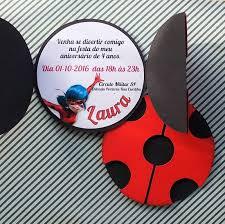 Convite Miraculous Para Festa Tematica Da Ladybug Produzido Em