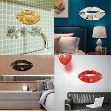 3d Lip Mirror Wall Decal Sticker Removable Arts Mural Vinyl Home Decor Diy Hot Ebay