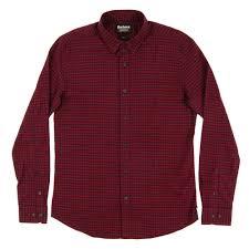 stance check shirt ruby mens clothing