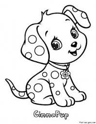 Printable Cinnapup Strawberry Shortcake Coloring Pages Printable