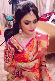 bridal makeup in green trends chennai