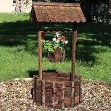 outdoor wood garden planter