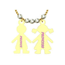 customized you and me gold name pendant
