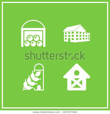 Fence Icon 4 Fence Vector Set Stock Vector Royalty Free 1167977494
