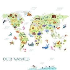Roommates Kids World Map Peel And Stick Wall Decals Bed Bath Beyond