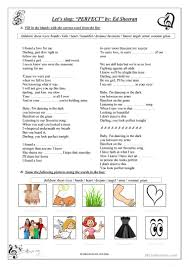 Ed Sheeran - Perfect lyrics - English ESL Worksheets for distance learning  and physical classrooms