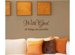 With God All Things Are Possible Vinyl Wall Lettering Sticker
