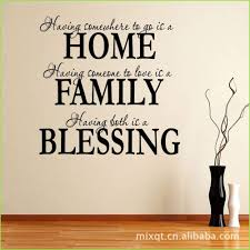 home family bless wall sticker quote ie