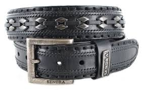 sendra boots 8340 black leather belt