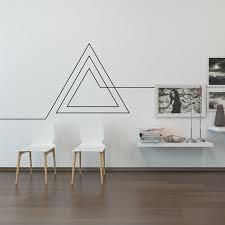 Living Room Wall Decal Endless Geometric Triangle Tape Wall Art Washi Tape Wall Home
