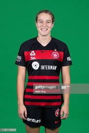 Courtney Nevin poses during the Western Sydney Wanderers W-League... News  Photo - Getty Images