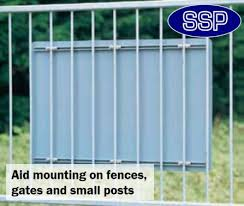Pair Of Ssp Fence And Gate Fixing Sign Brackets 19mm Ssp Direct