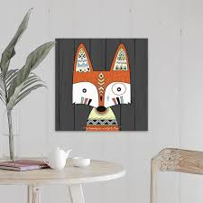 Shop Tribal Fox Canvas Wall Art Overstock 26975354