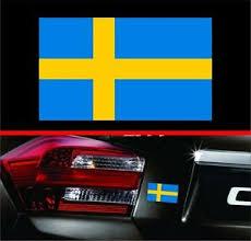 4 Swedish Flag Vinyl Decal Bumper Sticker Sweden Self Adhesive For Volvo Saab Ebay