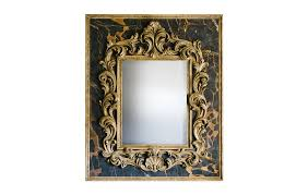 baroque mirror on black portor