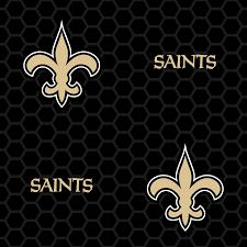 new orleans saints logo pattern black