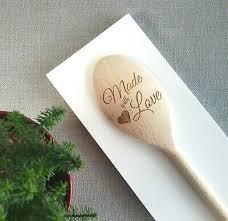 end personalised wooden spoon