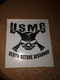Usmc Death Before Dishonor Decal For Laptop Car Tablet Window Etsy