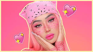 valentines day heart freckles makeup